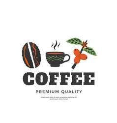 coffee packaging design cover for menu cafe vector image