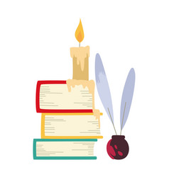 color books candle and vector image