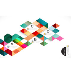 colorful overlapping geometric template vector image