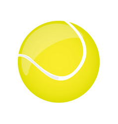 colorful realistic silhouette tennis ball element vector image