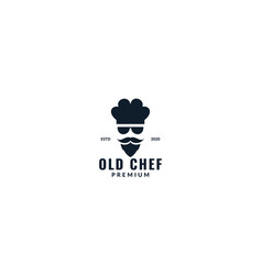 Cool chef with sunglasses modern logo design vector
