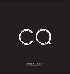 cq initial letter split lowercase logo modern vector image