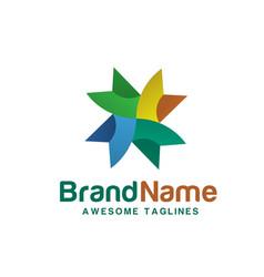 Creative abstract geometric color logo vector