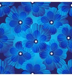 Dark blue floral seamless pattern vector