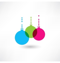 decorations on Christmas tree vector image vector image