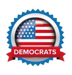 Democrats election badge vector