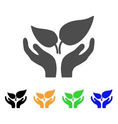 eco startup icon vector image