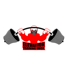 elevation training mask fitness athlete and vector image