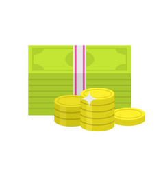 flat money icon vector image