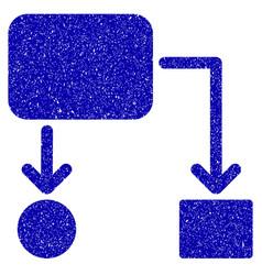Flow chart icon grunge watermark vector