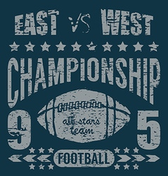 Football sport typography t-shirt Printing design vector