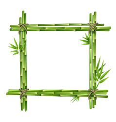 Frame from bamboo stems vector