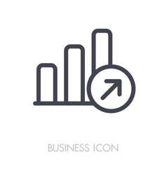 Growth graph outline icon finances sign vector
