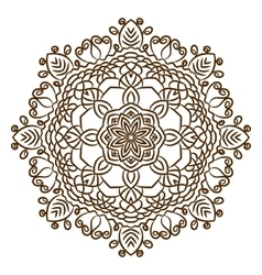 Hand drawn henna tattoo mandala lace vector image