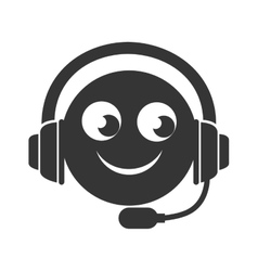 headset service operator icon graphic vector image