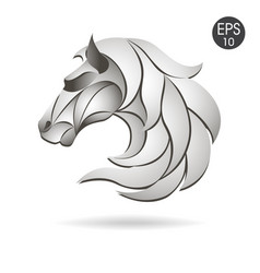 Horse head logo emblem symbol for business vector