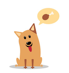 Hungry cartoon dog vector