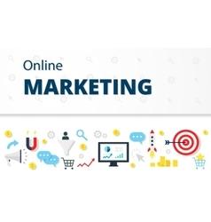 Internet marketing advertising concept in flat vector
