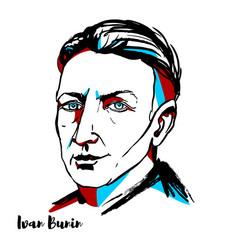 Ivan bunin portrait vector
