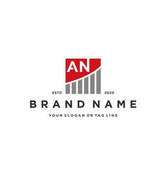 Letter an chart financial logo design vector