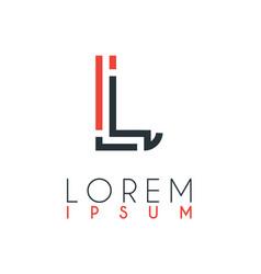 logo between letter l and letter j or lj vector image