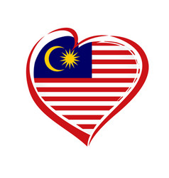 Love malaysia emblem colored vector