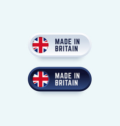 made in britain sign in two color styles vector image