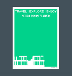 Merida roman teather badajoz spain monument vector