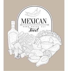 Mexican Food Vintage Sketch vector
