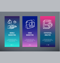 mobile marketing video marketing statistical vector image