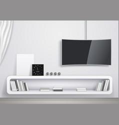 modern interior of living room vector image