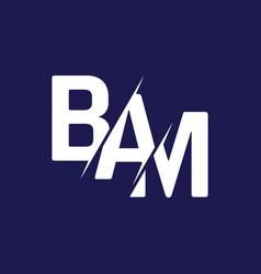 Monogram letters initial logo design bam vector