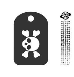 morgue mark icon with men bonus vector image