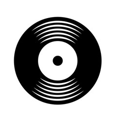 Music vinyl disk vintage cartoon vector