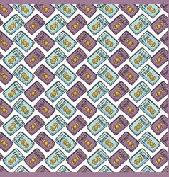 Mystical seamless pattern of set of tarot vector