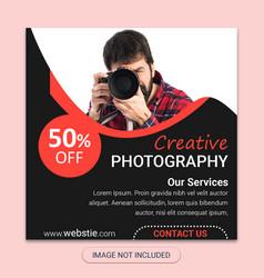 photography social media post templates vector image