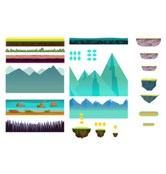 platformer game assetsset game elements vector image