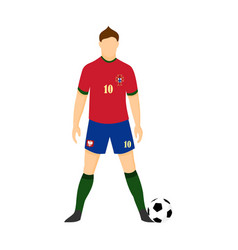 portugal football uniform national team vector image