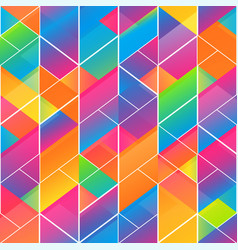 rainbow color mosaic pattern vector image