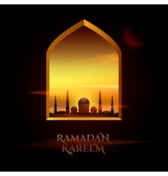 Ramadan Kareem beautiful greeting card for holy vector image