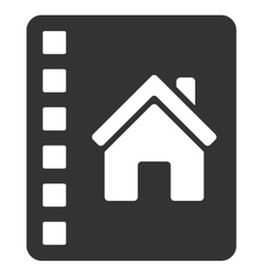 Realty Catalog Flat Icon vector