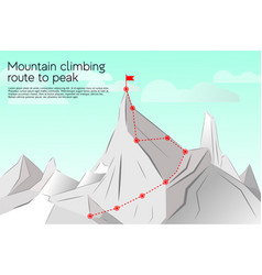 route to the top concept business vector image