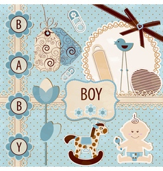 Scrapbook baboy set vector