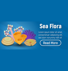 sea flora concept banner isometric style vector image