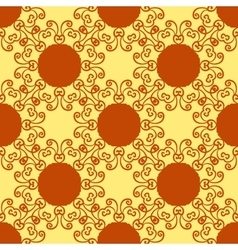 Seamless abstract pattern on yellow texture vector image