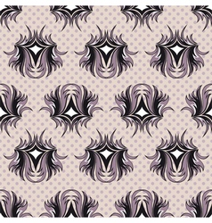Seamless pattern the black and violet tracery vector image