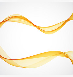 Set of abstract bright colorful golden wave vector