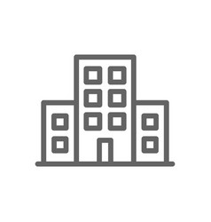 simple building icon symbol and sign vector image