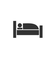 sleep icon flat vector image