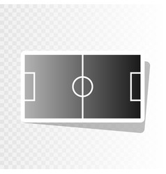 soccer field new year blackish icon on vector image